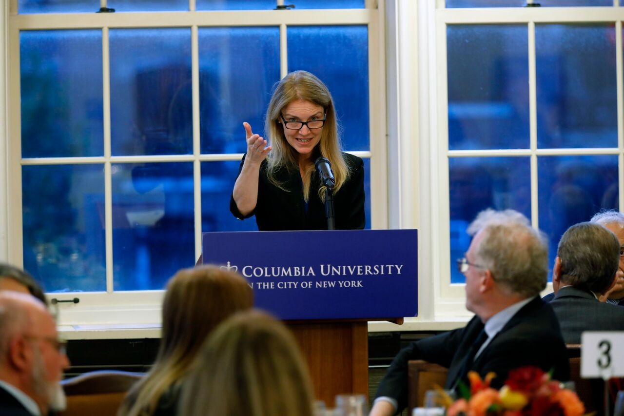 Columbia U Prof. Maya Tolstoy speaking